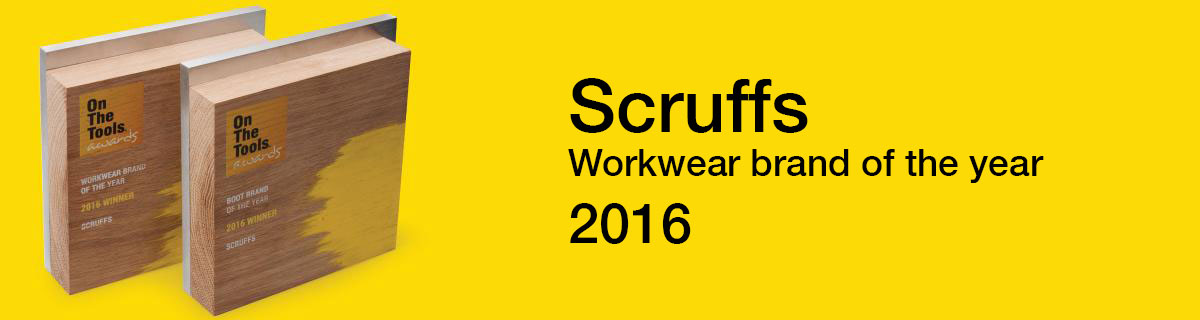 Scruffs workwear award:best workwear brand 2016